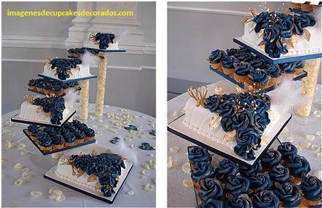 cupcakes para bodas originales elegantes