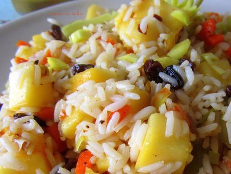 Salteado de arroz y mango paperblog - Salteado de arroz ...