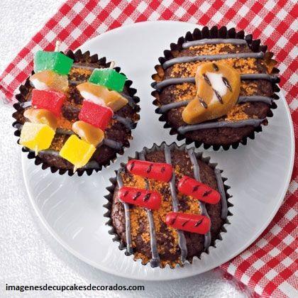modelos de cupcakes para hombres decorados