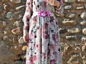 Vintage Long Flower Dress