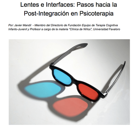 Lentes e interfaces: Pasos hacia la post-integración en psicoterapia