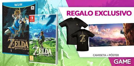 Camiseta y póster por reservar THE LEGEND OF ZELDA: BREATH OF THE WILD en GAME