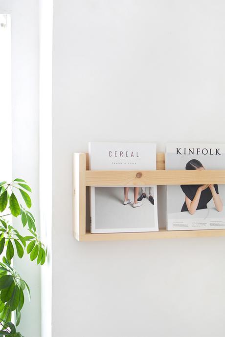 C mo hacer un estante revistero de madera paperblog - Como hacer estantes de madera ...