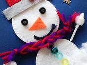 Muñecos nieve, manualidad invernal.