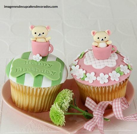 como decorar cupcakes con masa elastica bebes