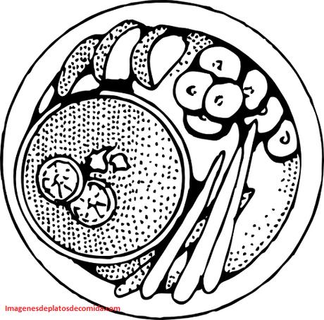 Cuatro Platos De Comida Para Dibujar Y Puedas Colorear E