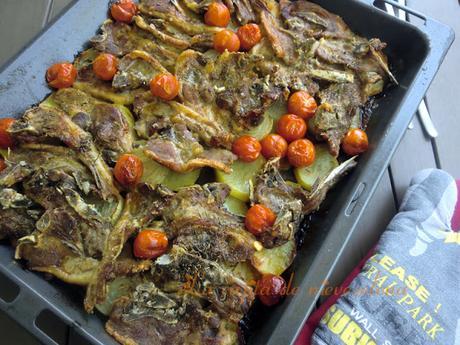 Chuletas de cordero al horno con cherry paperblog - Chuletas de cordero al horno con patatas ...