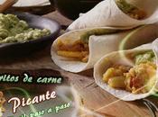 Burritos rellenos carne alubias aguacate