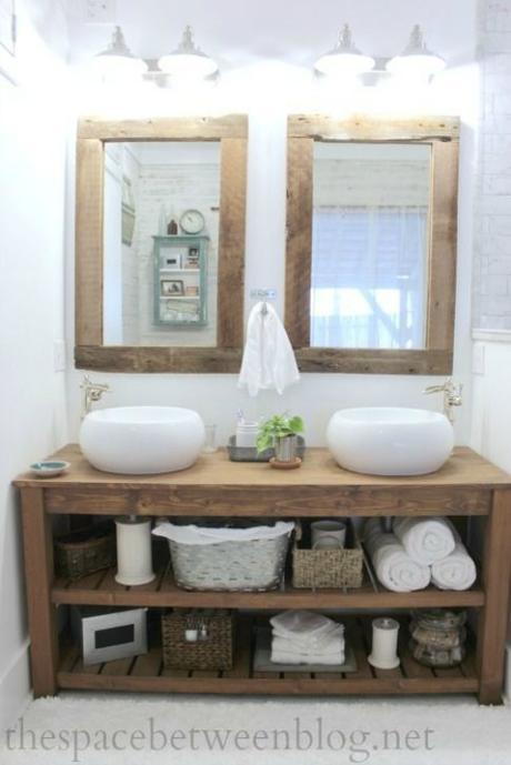 Espejos con marco de madera reciclada paperblog for Espejo horizontal salon