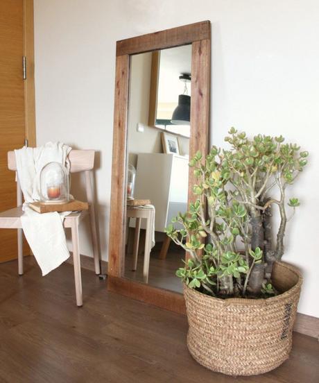 espejos con marco de madera reciclada