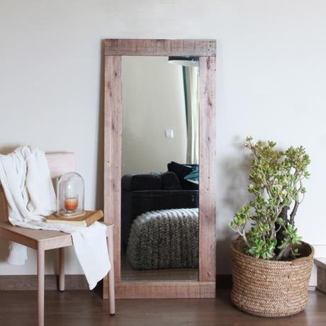 espejos con marco de madera reciclada paperblog
