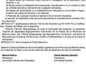 PCIA. BS.AS. 14898/17. penas quien perturbe emocional intelectualmente trabajador educación, docente