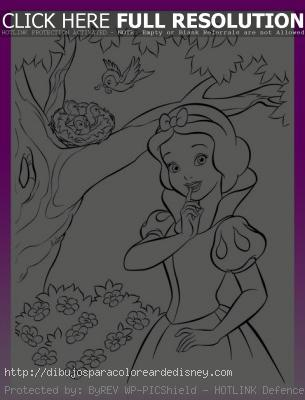 Blancanieves Y Todos Los Dibujos De Princesas Para Pintar