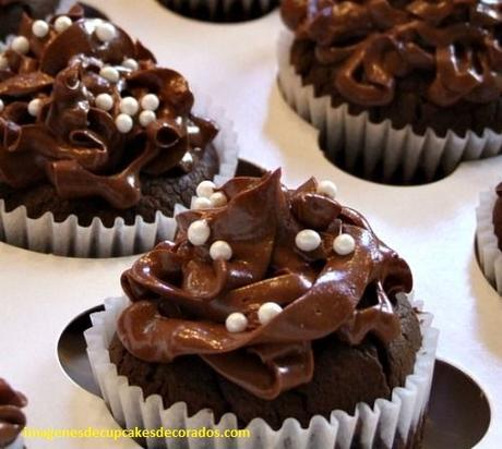 cupcakes decorados con chocolate decoracion