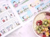 Cómic Snoopy Carlitos Smoothie bowl Frutos Rojos Anacardo