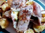 Rollos pollo calabacín queso Involtini zucchine provola
