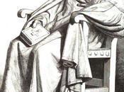 Bécquer ante estatua Santa Teresa