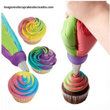 mezcla para decorar cupcakes colores