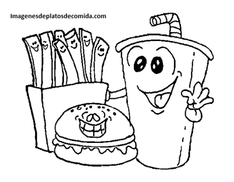 Cuatro dibujos de comidas tipicas del mundo para colorear  Paperblog