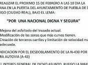 """Municipios comarca Montesur manifestarán """"por nacional digna segura"""""""
