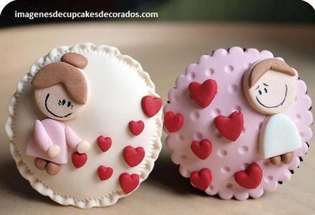 cupcakes decorados de amor decorados