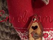 Corazón patch estilo country cesta crochet.