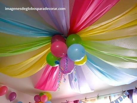 fiestas decoradas con globos colores