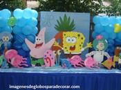 Cuatro decoraciones adornos para fiesta infantil niño