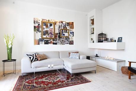 Un sal n con chimenea de bioetanol paperblog for Chimeneas en apartamentos pequenos