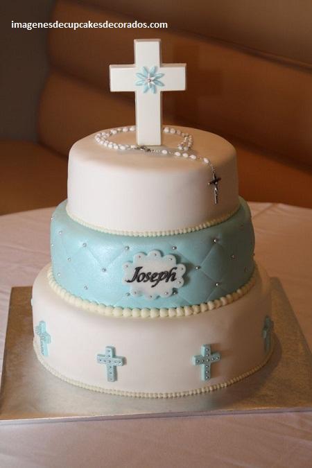 pasteles decorados para bautizo torta