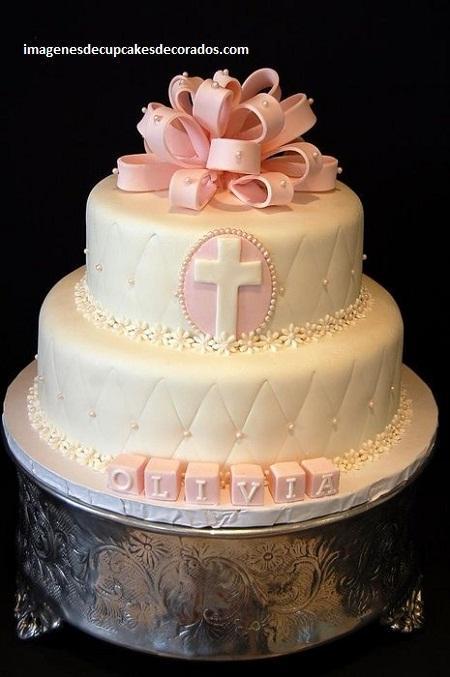 pasteles decorados para bautizo decoracion