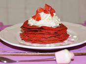Velvet pancakes crema queso nata fresas frescas