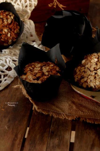 Muffins de avena y fresas al cava.