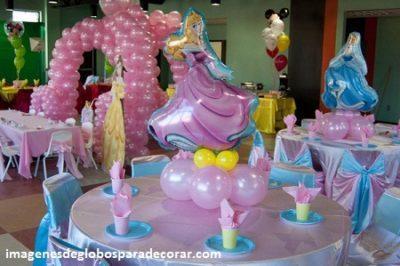 arreglos de fiestas infantiles con globos nia