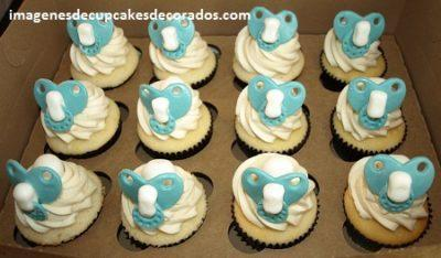 decoracion de cupcakes para baby shower niño