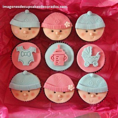 Ideas De Decoracion De Cupcakes Para Baby Shower Nino Y Nina Paperblog