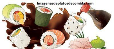 platos de comida animados makis