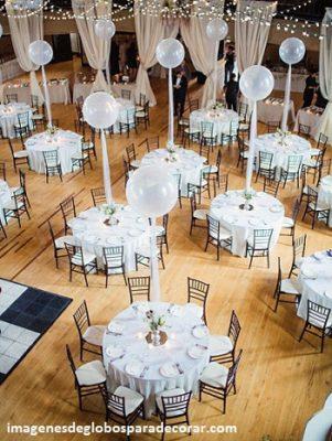 arreglos para boda civil con globos centros