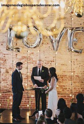arreglos para boda civil con globos metalicos