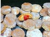 Galletas rellenas mermelada frambuesa