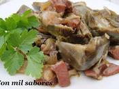 Alcachofas jamón