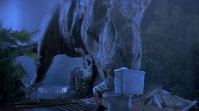 El merecidísimo homenaje de Jimmy Kimmel al tío que se comieron en un baño de Jurassic Park