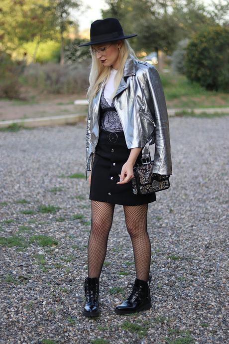 SILVER JACKET & FISHNET