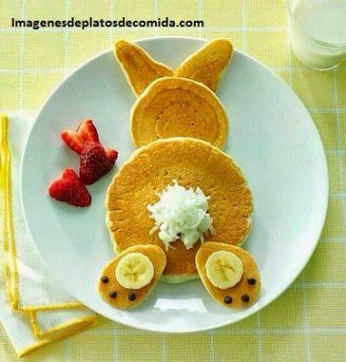 comida con figuras para niños desayuno