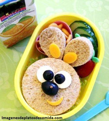 comida con figuras para niños divertida