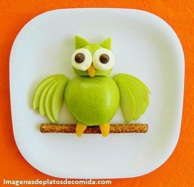 comida con figuras para niños fruta