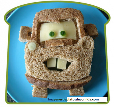 comida con figuras para niños creativa