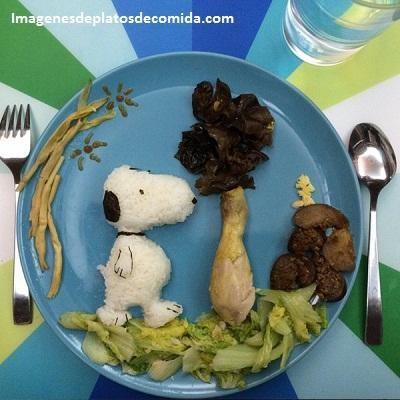 como decorar comida para niños divertida