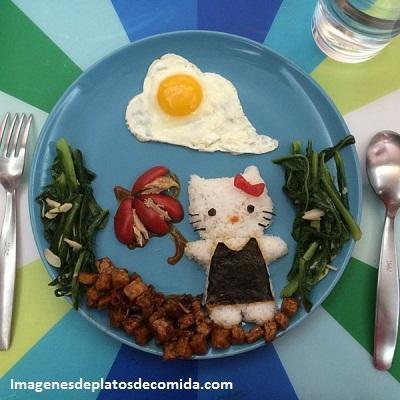 como decorar comida para niños gato