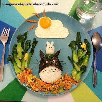 como decorar comida para niños original
